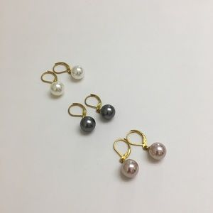 Jewelry - Fashion faux pearl earrings 3 pairs